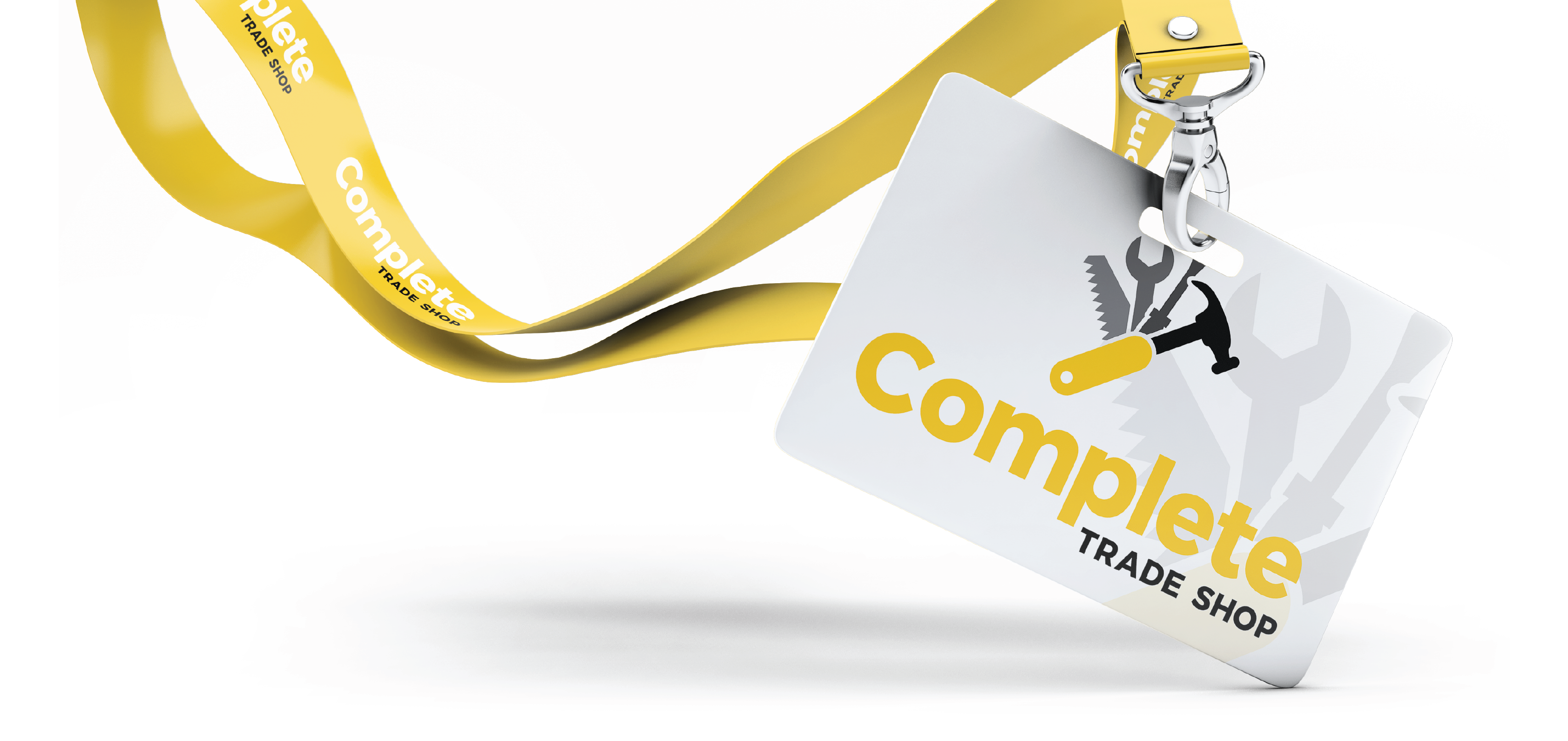 complete trade shop brand logo design lanyard