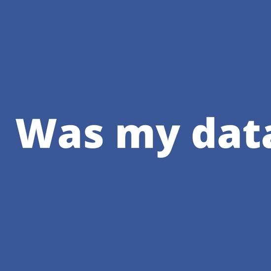 Did Facebook Take my Data