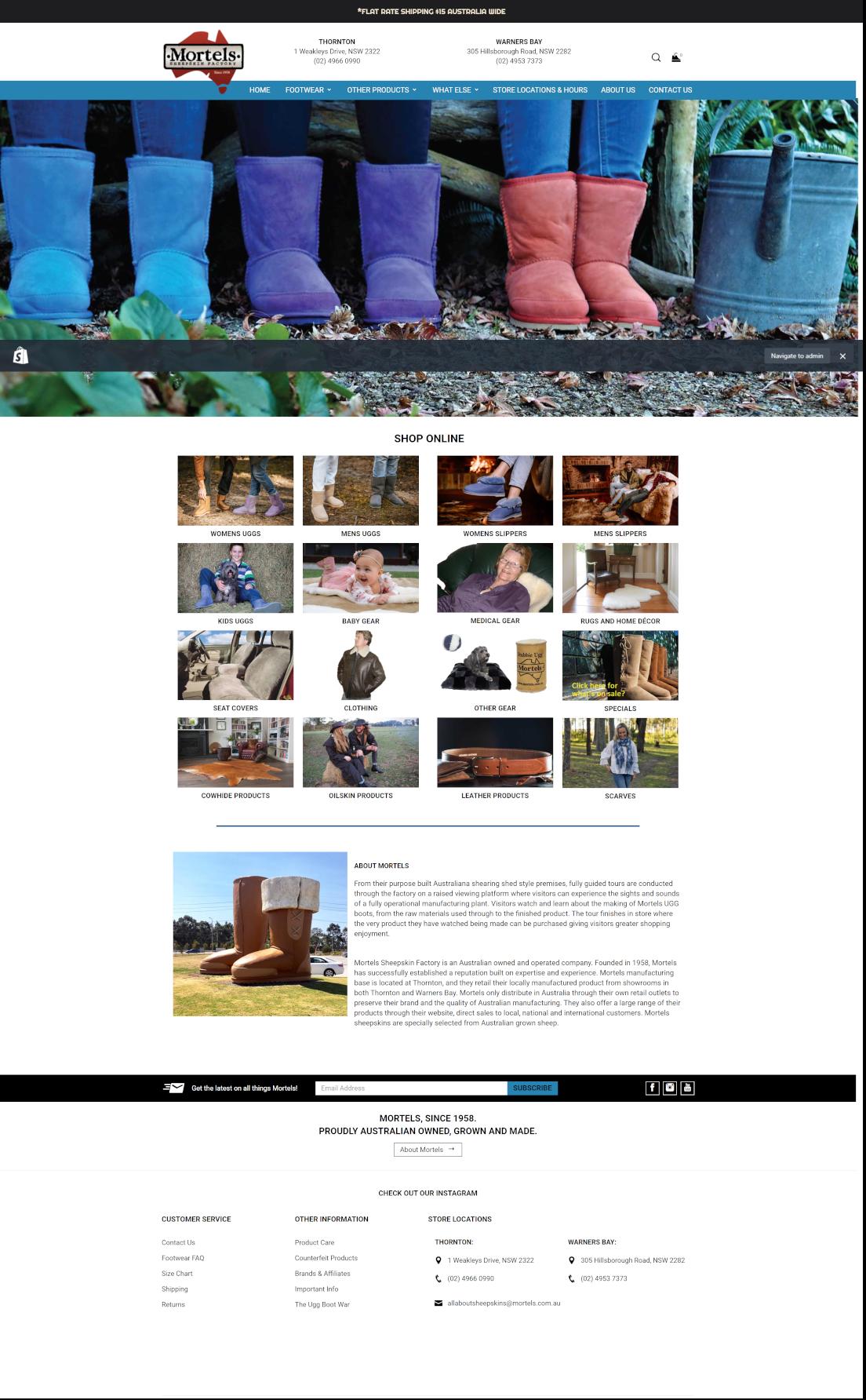 mortels full homepage