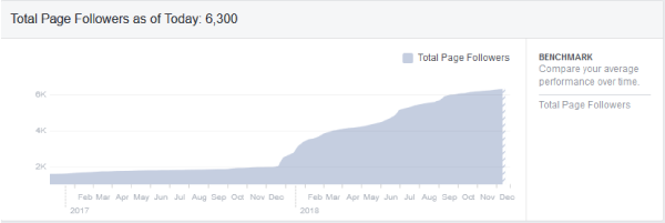 Facebook Followers - 2000 to 6000 in one year