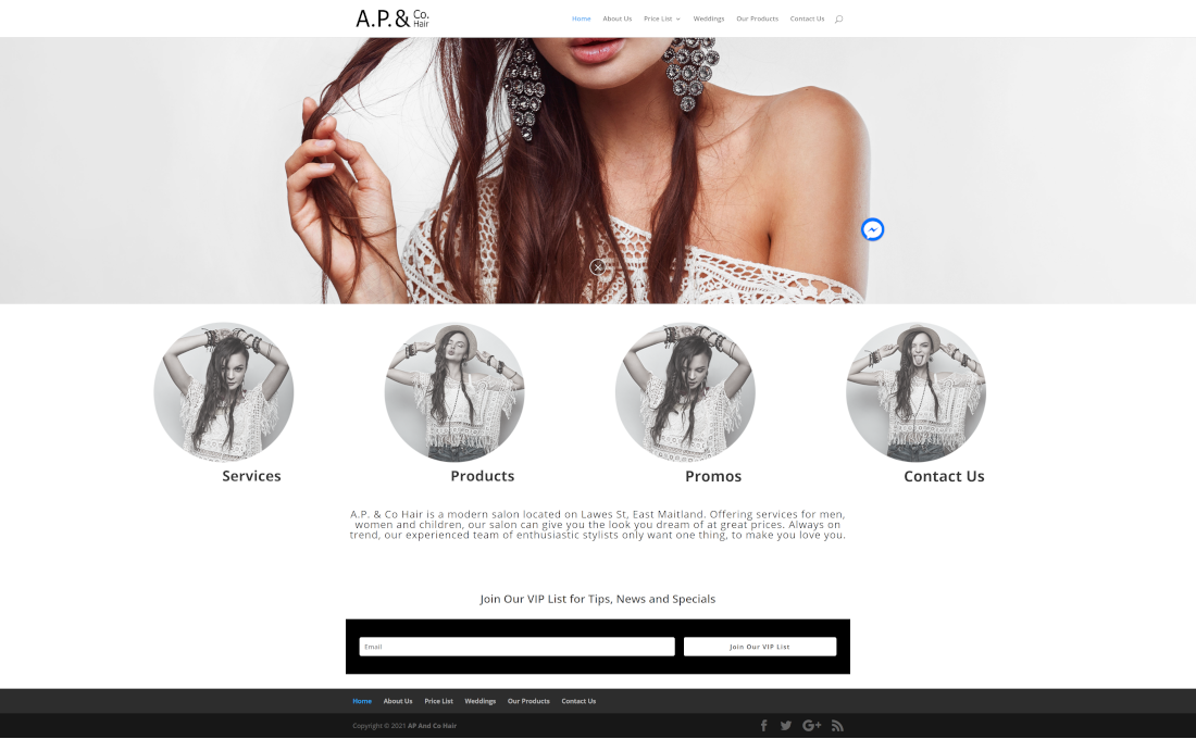 apandcohair full homepage