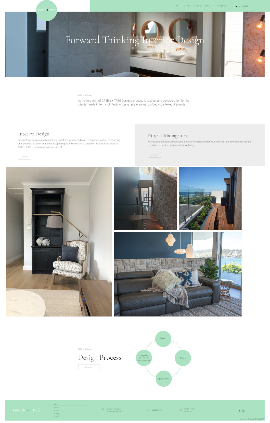 greentreedesign full homepage