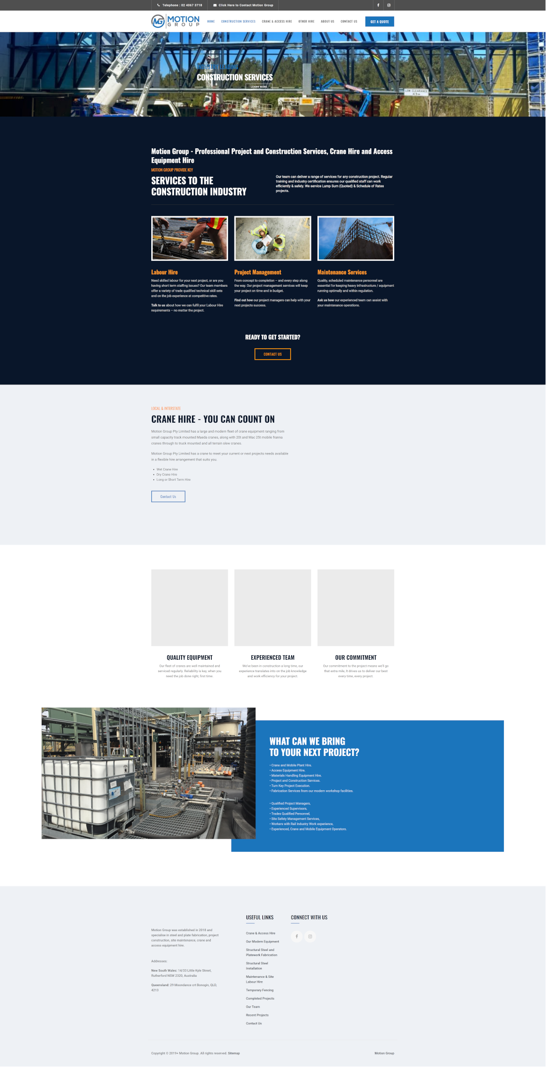 motiongroup full homepage