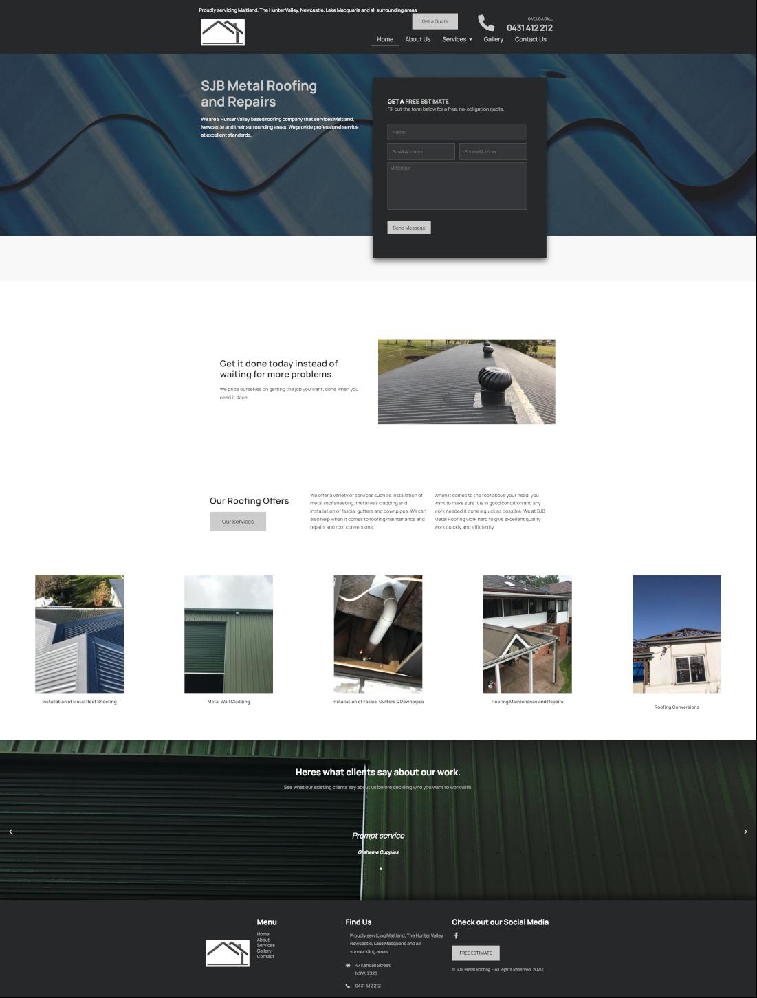 sjbmetalroofing full homepage